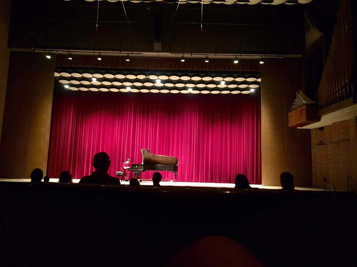 Dr. Namji Kim performed four pieces at Gantner Concert Hall in Haas Sunday.