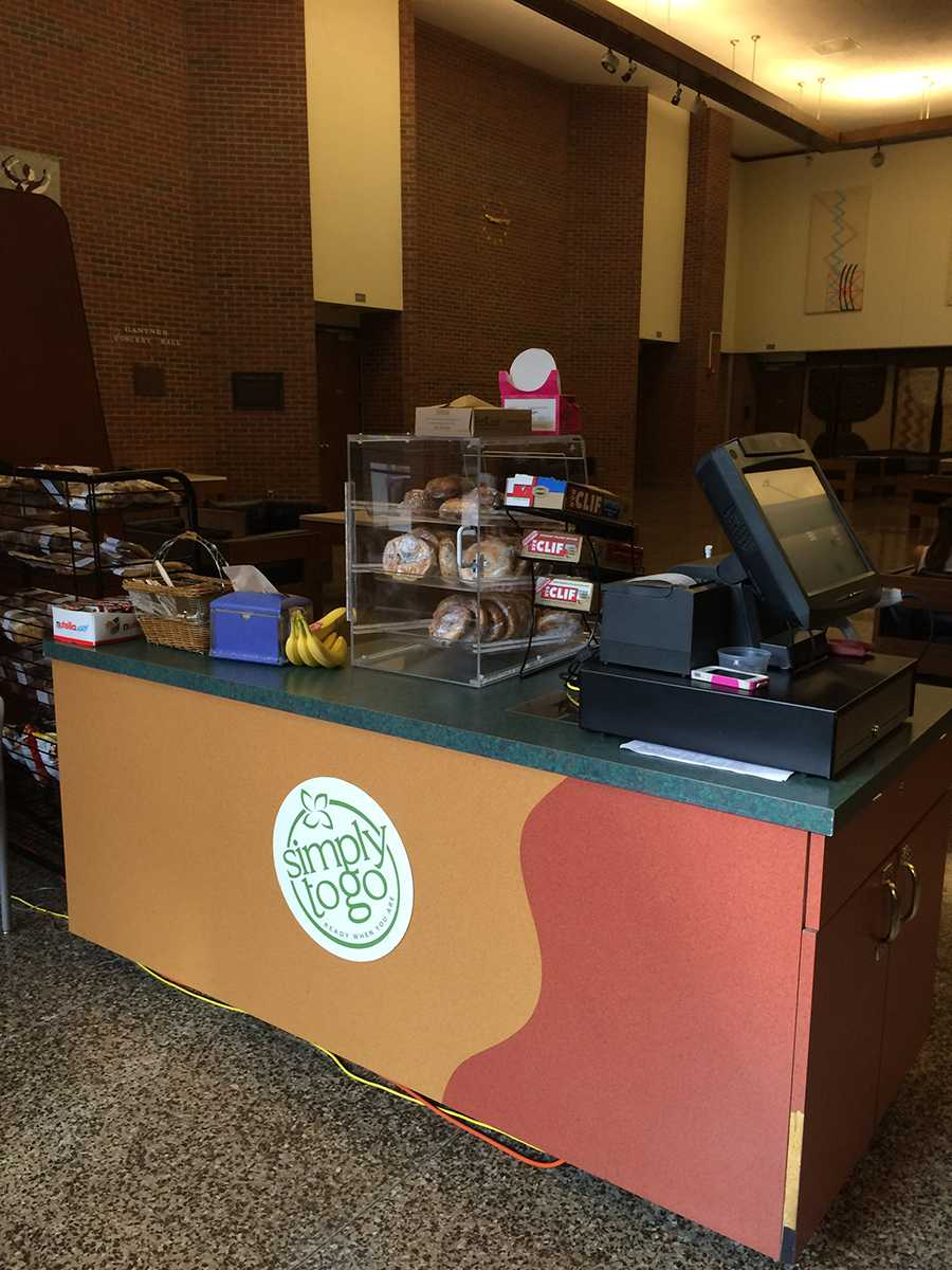 The Simply To Go Cart, located in Haas, provided not only food, but a familiar face to all the students who have class in Haas Fine Arts Center.