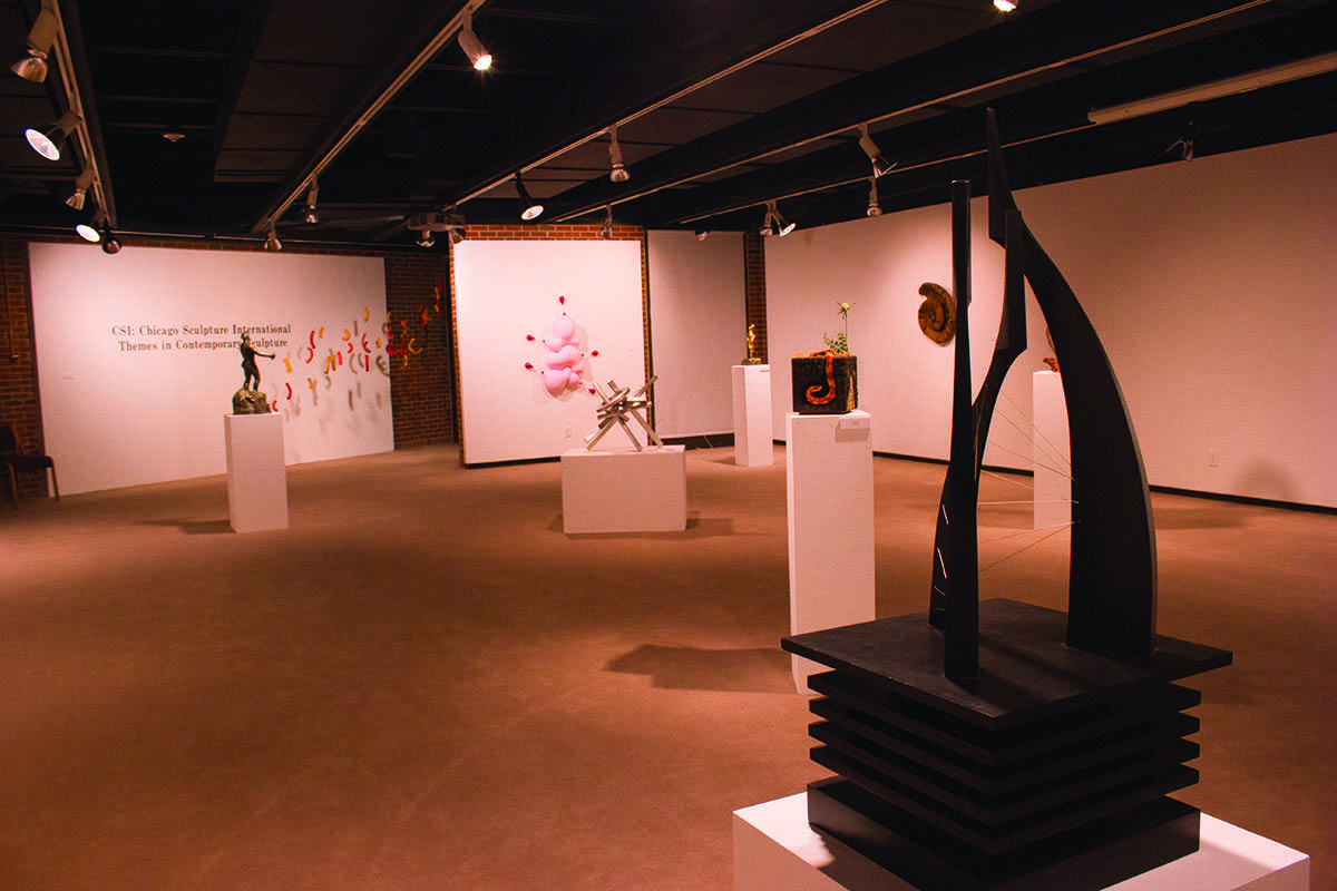 The Foster Art Gallery showcases sculptures from Chicago Sculpture International.