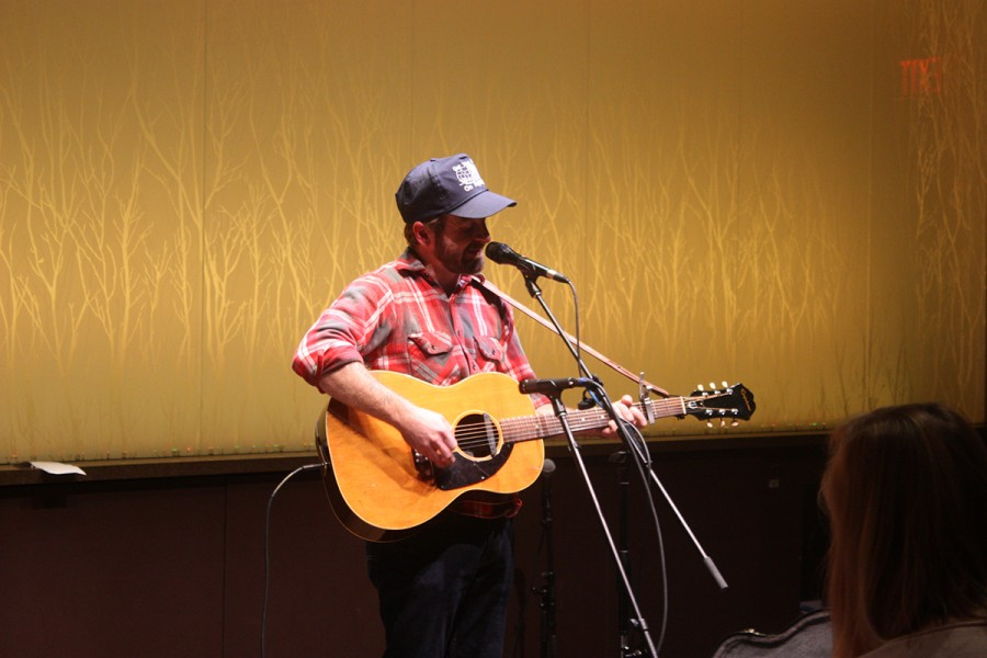 Dave Simonett, lead singer for Minnesota band Trampled by Turtles, performed Saturday night Nov 21 at The Cabin after opener D. Janakey.