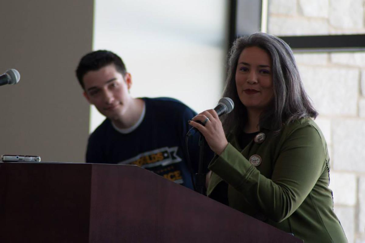 Eau Claire City Council member, Catherine Emmanuelle, is seeking re-election in April 2016. In April 2014 Emmanuelle spoke in the Davies Center to UW-Eau Claire students on getting out the vote.