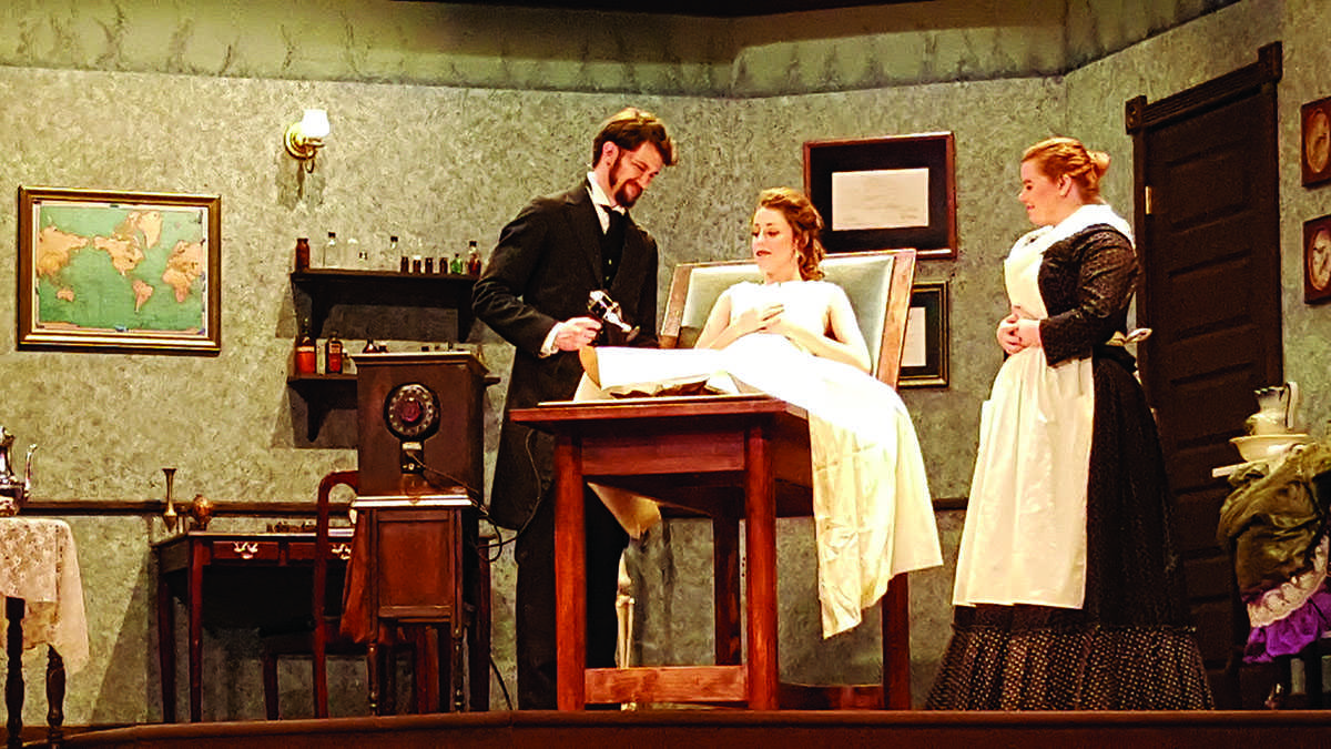 """UW- Eau Claire theatre students have been preparing their production of """"In the Next Room,"""" a play about odd treatment methods for hysterical women in the 1800s, for the last month."""