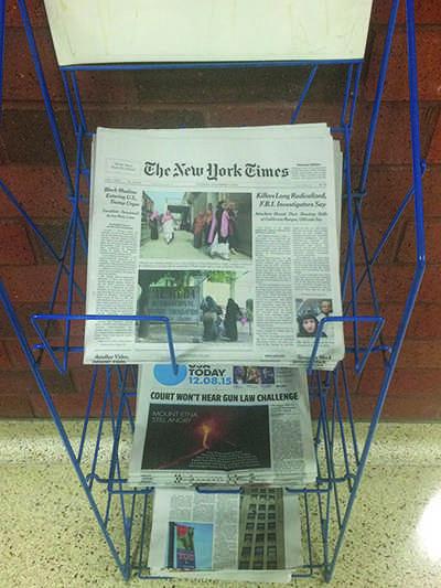 UW- Eau Claire provides news publications to campus, most containing destructive headlines.