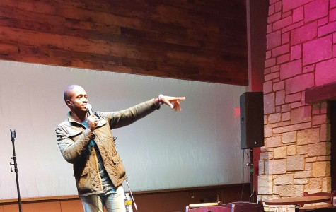 Chinedu Unaka and Clear Water Comedy performed entertaining open mic stand-up comedy Friday night at The Cabin.