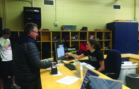 Student workers may be the receptionist at the McPhee Physical Education Center who check in visitors to the gym