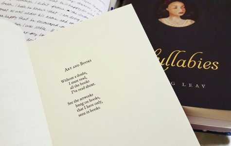 "A poem excerpt called ""Art and Books"" from one of Vang's favorite poetry books, ""Love & Misadventure"" by Lang Leav."