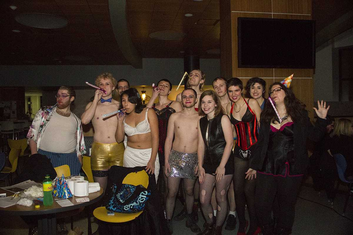 """A group of Blugolds dressed in costume enjoyed last year's """"Rocky Horror Picture Show"""" screening. This year's event will be at 11:59 p.m. Saturday in the Davies Center."""