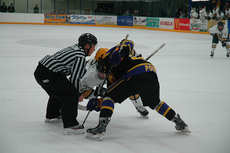 The Blugolds battled both Friday and Saturday night against the Pointers, staying competitive throughout each game.