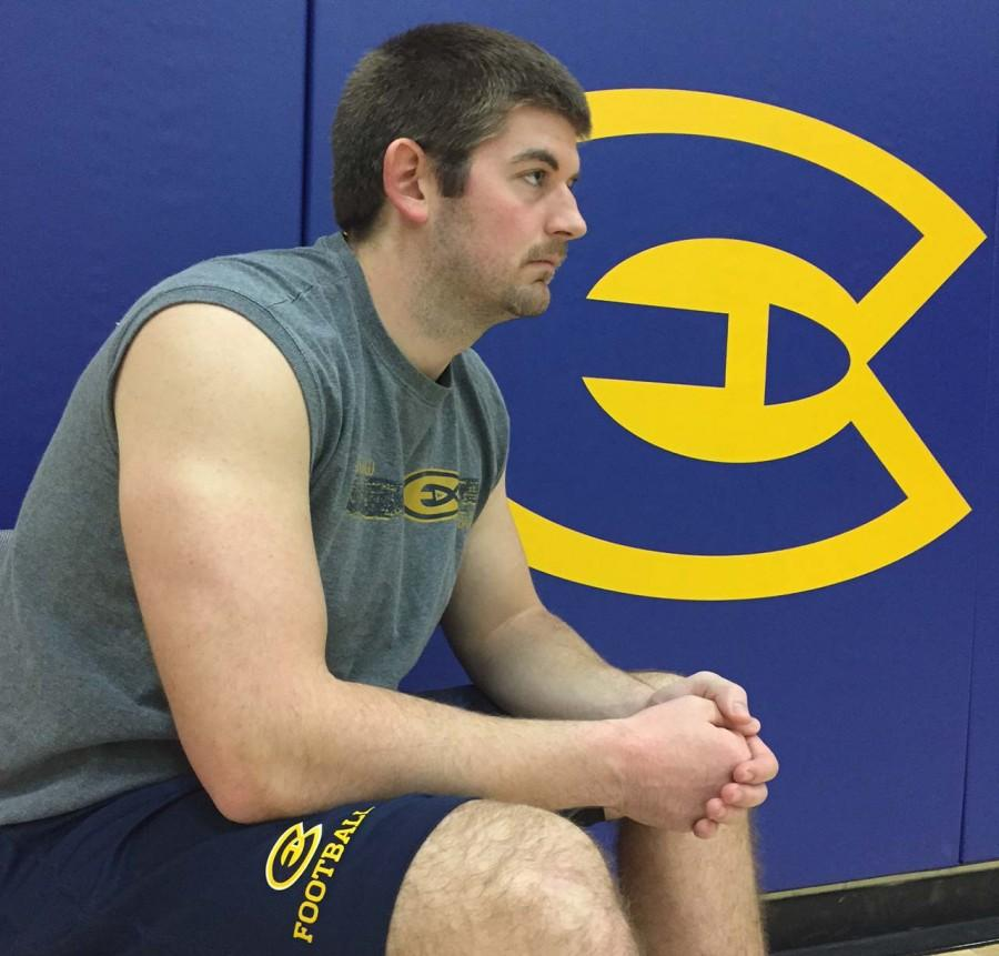 Senior Alex Arendt, who played for the Blugolds football team, was one of the many student-athletes who saw limited time for their respected teams.