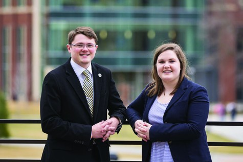 tudent body Vice President Jordan Mabin and Director of Intergovernmental Affairs Katy McGarry will be on the ballot for the 2016-2018 president and vice president position.