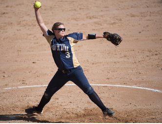 Blugold softball opens up conference play with two wins over conference foe UW-La Crosse