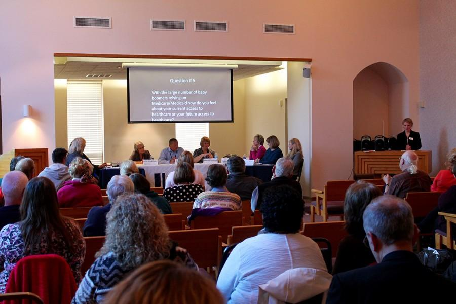 The+community+and+panelists+attended+Baby+Boomer+Panel+held+at+Ladysmith%2C+Wis.+in+their+auditorium.