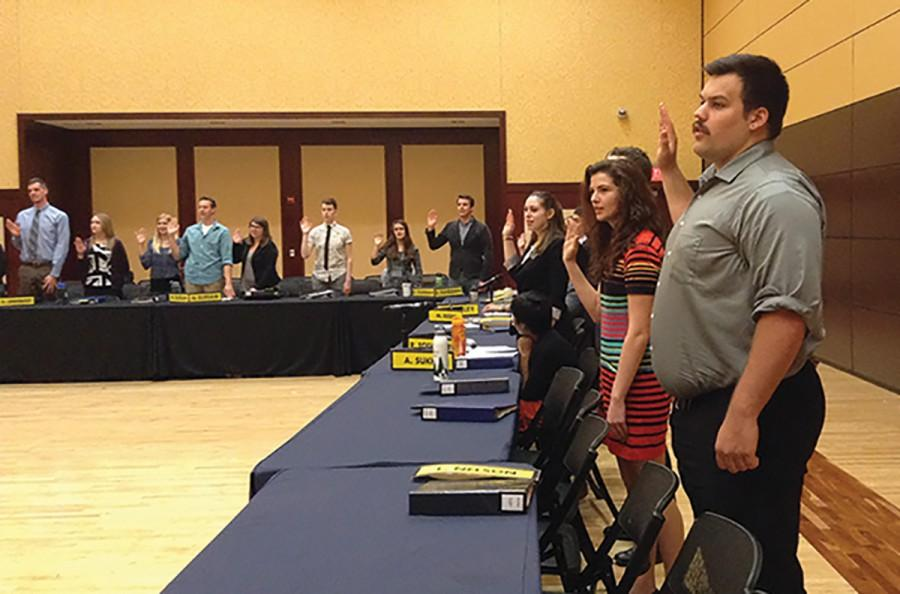 Student Senate begins its 60th Session and swears-in the 30 elected Senators as they perform the oath of office.