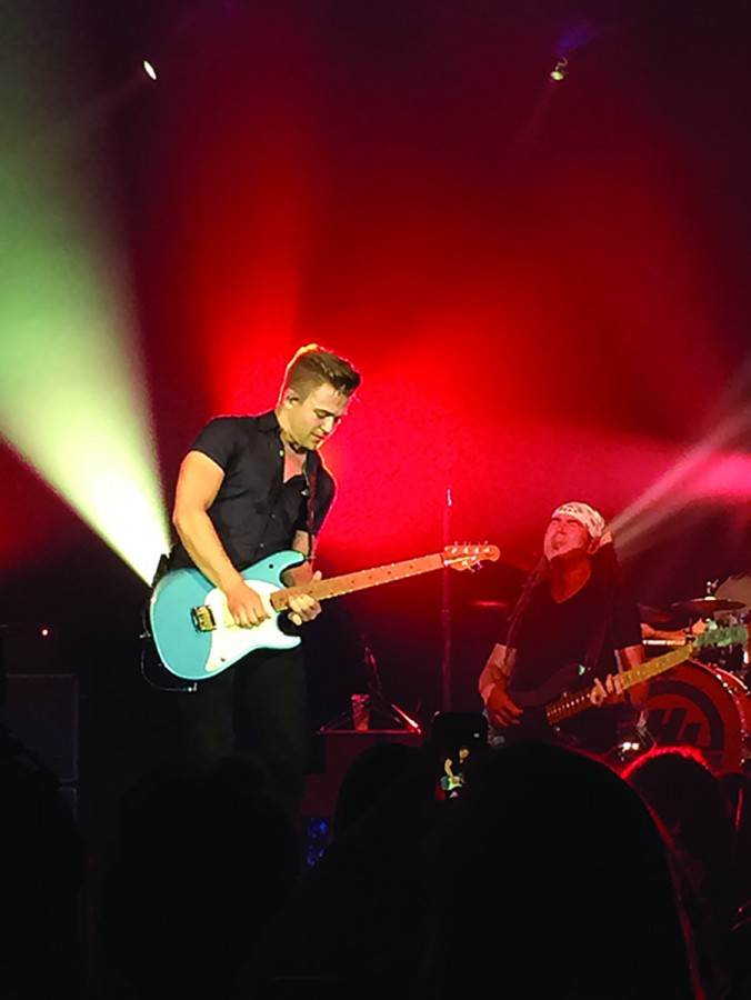 Country artist, Hunter Hayes, played the guitar as well as other instruments during his performance in Zorn Arena.