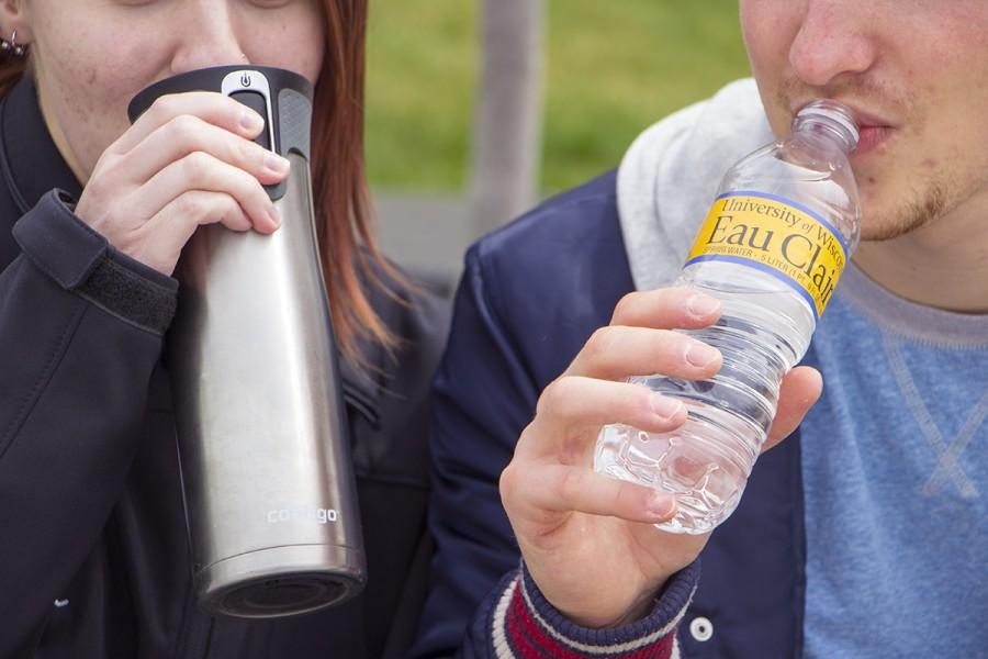 The Student Office of Sustainability is pushing UW-Eau Claire students to reduce their use of one-time use plastic water bottles after universities like UW-Stevens Point banned the sale of all plastic bottles on campus.