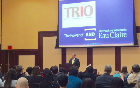 James C. Schmidt started off the TRIO Awards Ceremony with an introduction and proclamation.
