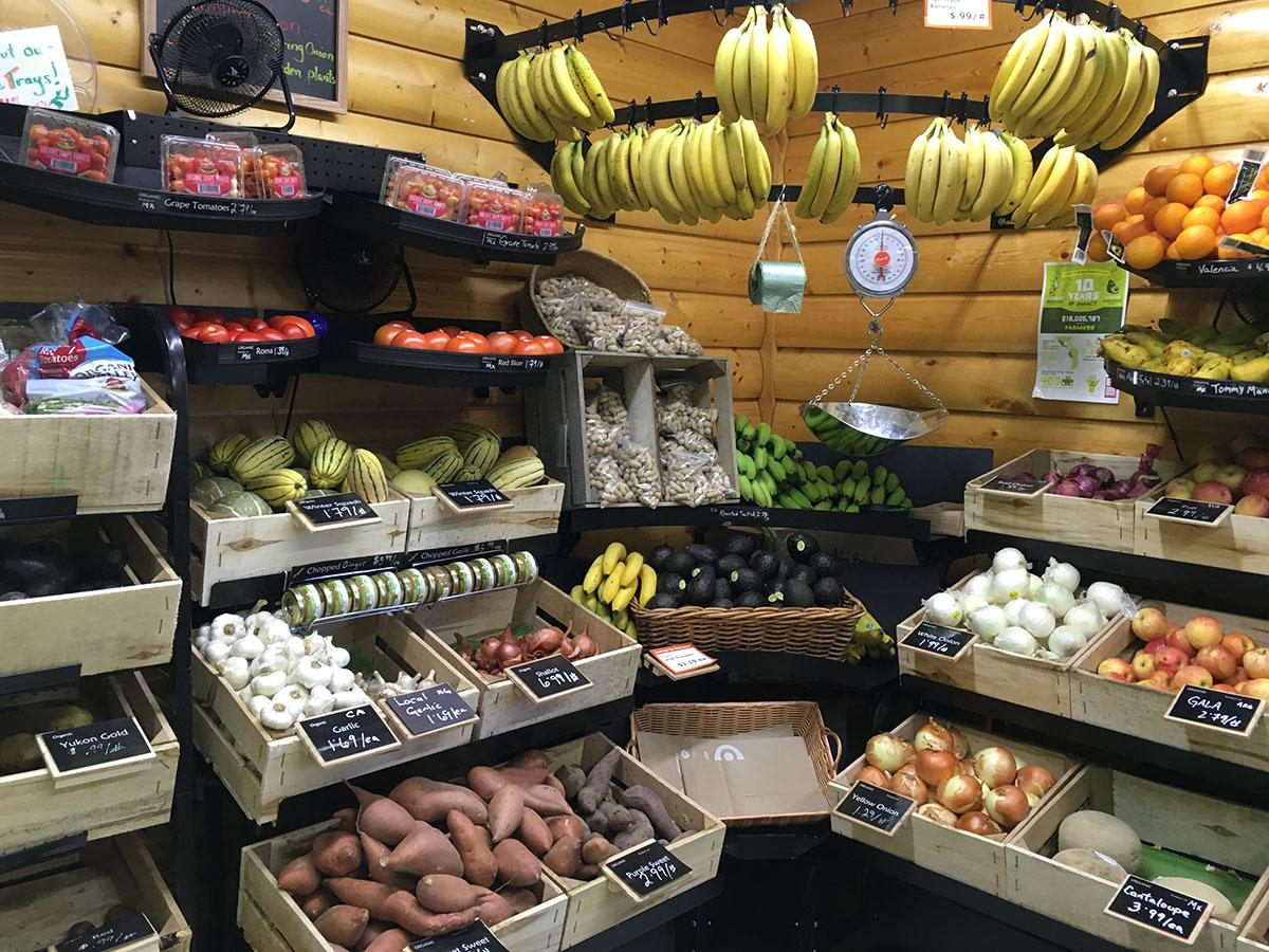 All natural: An assortment of locally grown and organic food can be found in small stores such as Just Local Foods