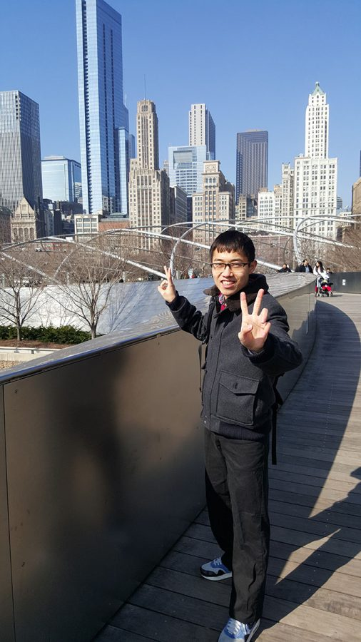 Qiusheng Zhu traveled to Chicago during his first year in the U.S. He hopes to see many more locations in upcoming years.
