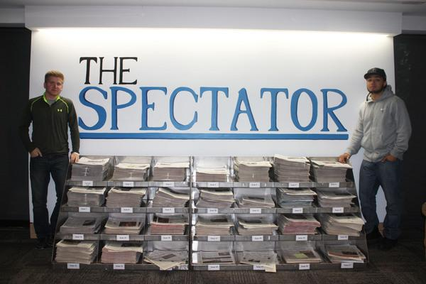 With a combined 13 semesters on The Spectator staff, 12 of which they spent together, Sports Editors Trent Tetzlaff and Ellis Williams are set to graduate on May 21 and enter the real world.