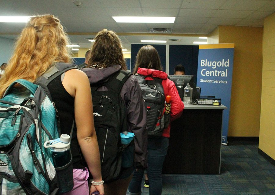 UW-Eau Claire's Blugold Central combines five departments of student services into one location. Students are able to access the services in person or online as needed. Links for online: Blugold Central = http://www.uwec.edu/connect/blugold-central/