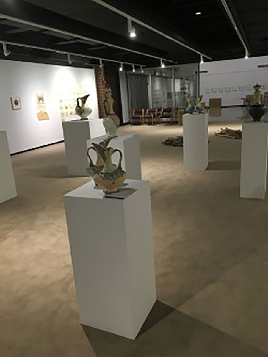 The Foster Gallery's first exhibition, opening Thursday, showcases a wide range of faculty art.