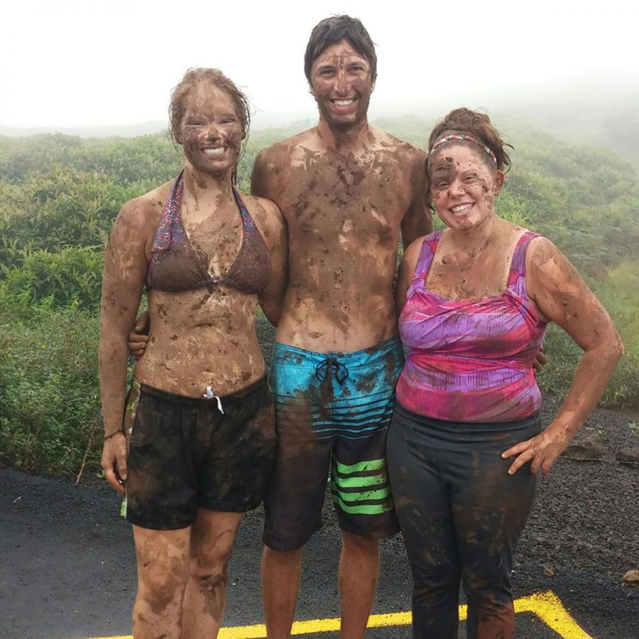 Morgan Freeburg, left, is all smiles during her adventure to the Galapagos Islands.