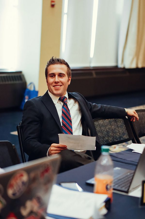 Nick Webber was appointed intergovernmental affairs director Monday at the Student Senate meeting.