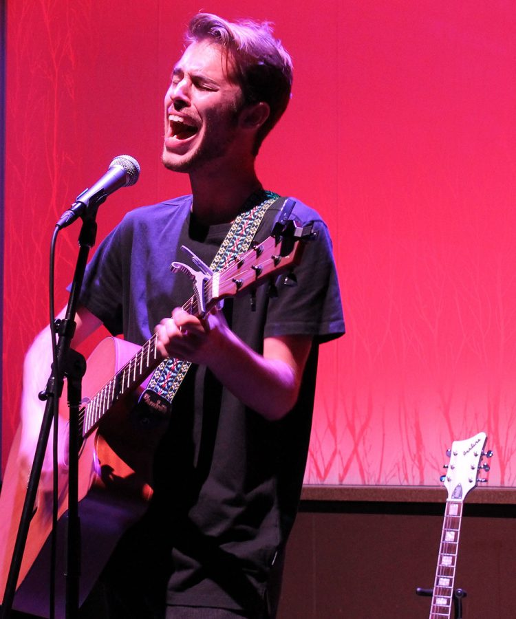 Will Lyberg has been performing for about five years and is ready to show the campus his talents.