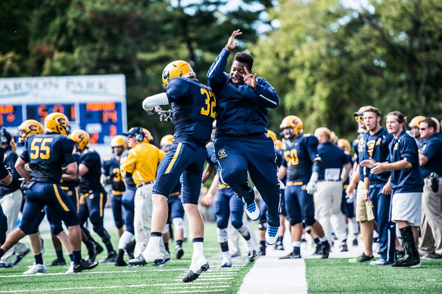 The Blugolds soared over the Eagles to earn their second win of the season.