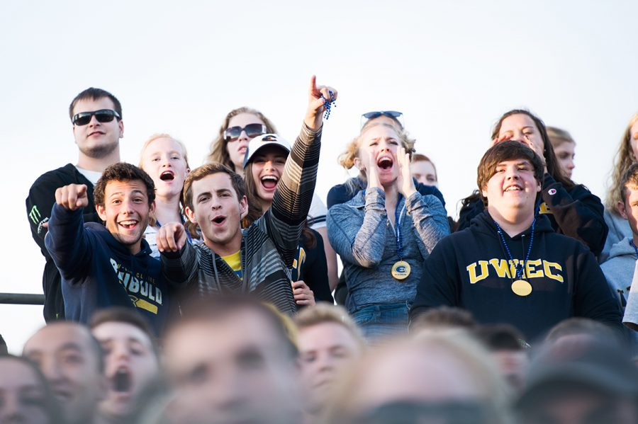 UW-Eau Claire students and fans often leave home football games after half-time.