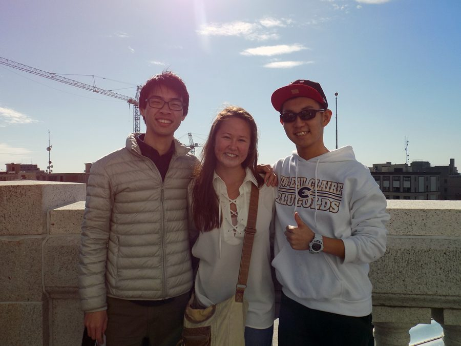 Cheryl Wetterlind (center) stands with two students who have utilized the ALS program, Kodai Noguchi (left) and Hiroki Kanai (right). (Submitted)