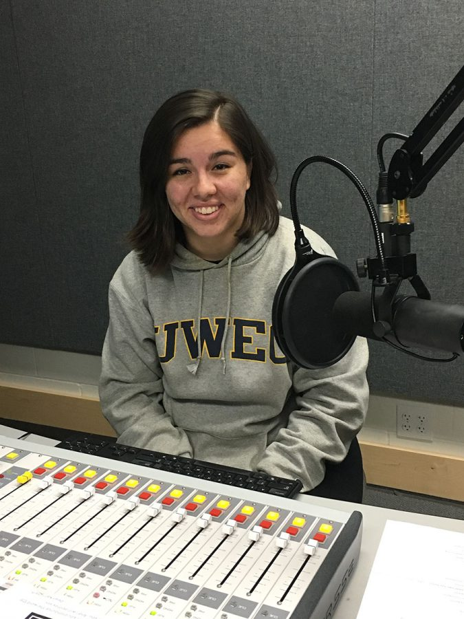 Kiri Salinas, a journalism student, is co-hosting Blugold Radio's newest show