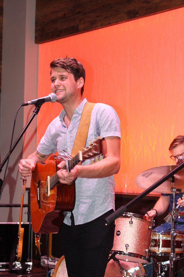 Matt Hires led the four person group with vocals and guitar to a full house at The Cabin.