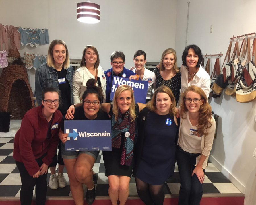 Women unite to discuss gender equality and support Hillary Clinton