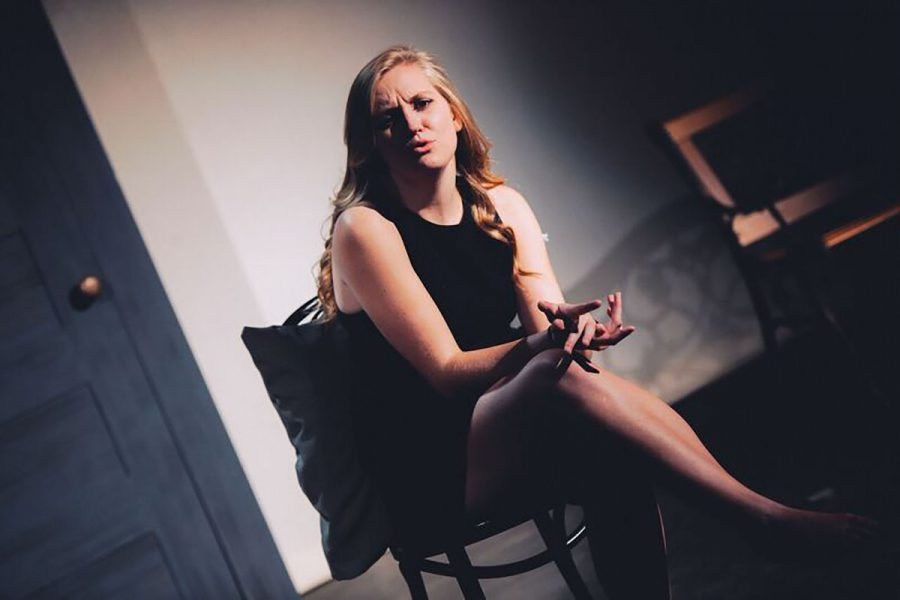 """Junior vocal performance student Bridget Cushman stunningly portrayed Cathy as a forsaken woman desperate to win the affection of her husband Jamie in The UW-Eau Claire Player's production of """"The Last Five Years."""""""