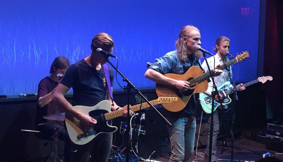 Indie-rock band Whosah hit the stage at the Cabin on Saturday night.