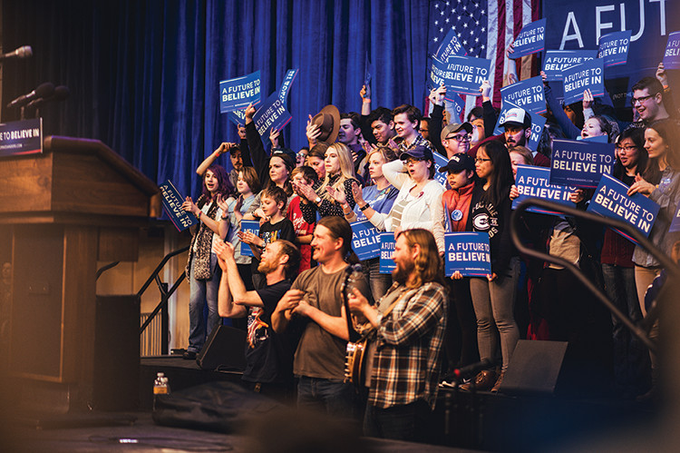 Bernie Sanders visited Zorn Arena on April 2, galvanizing many millenials with his message of unity and inequality. Now his supporters must look to other options to preserve what they can of their revolution. (Kelsey Smith)