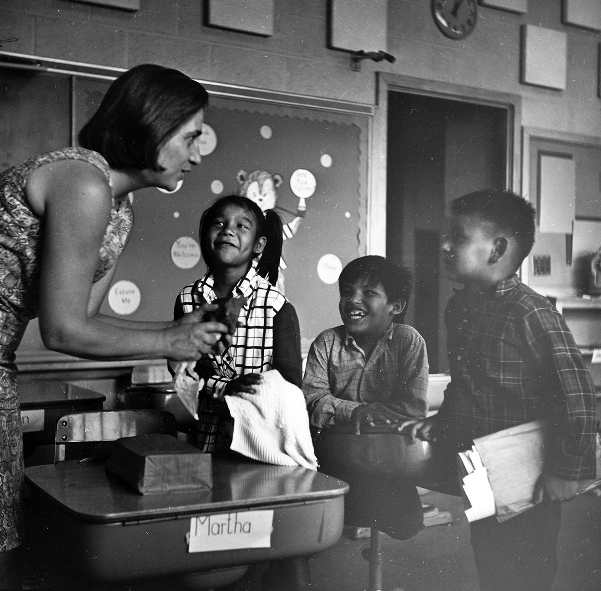 Special Education majors focus on teaching students with cognitive and learning disabilities. Pictured are students at the Campus School in 1969.