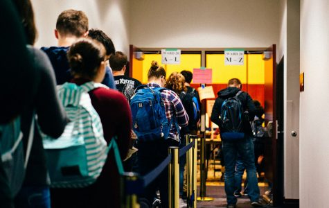 UW-Eau Claire students flocked to the polls on Tuesday to vote in one of the most divided and controversial elections of our time.