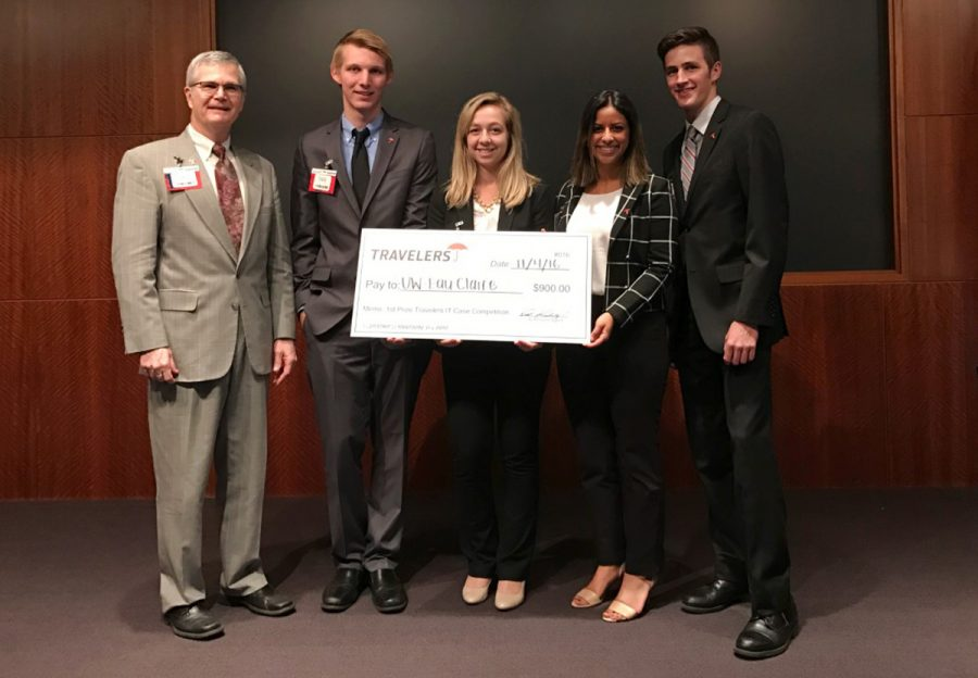The UW-Eau Claire group won first at the 2016 Travelers IT Case. (submitted)