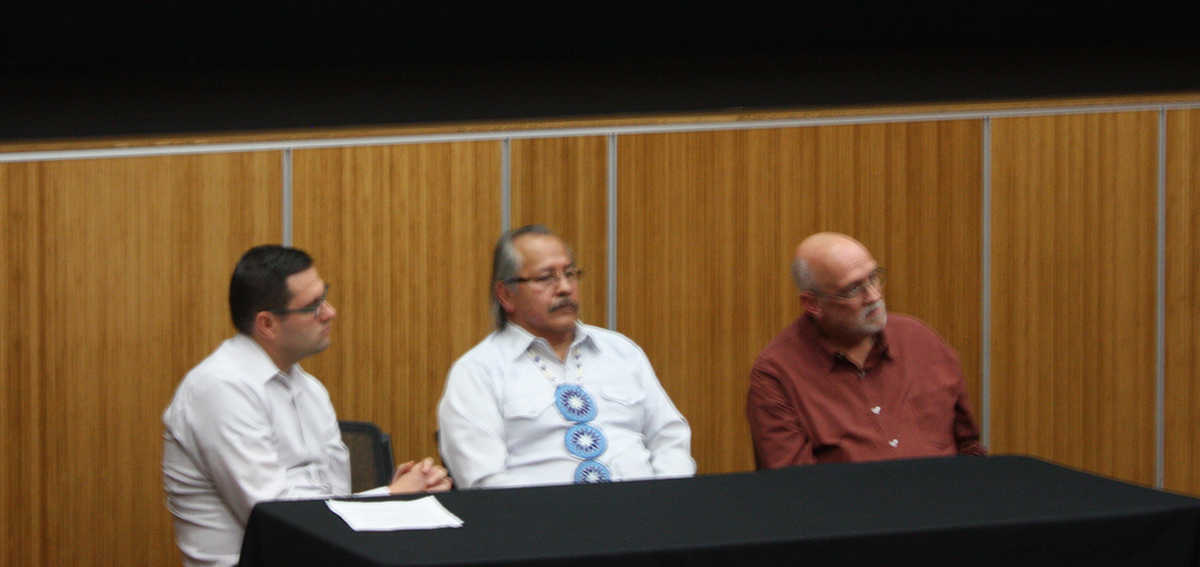 The North Dakota Access Pipeline conversation came to campus with a panel of American Indian Studies lecturers, an environmental historian and the president of the Ho-Chunk Nation on Monday.