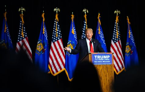 Donald Trump visited UW-Eau Claire on Nov. 1.