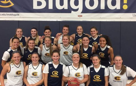 Blugold women's basketball team defeats the Oles