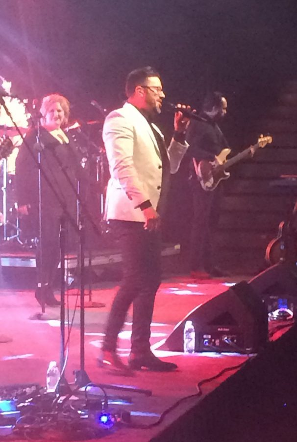 Natalie Grant and Danny Gokey filled Zorn Arena with their powerful voices Saturday night.