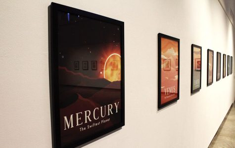 UW-Eau Claire student Allison Trainor created a poster series of the planets for the Foster Gallery Bachelor of Fine Arts Senior Exhibition.