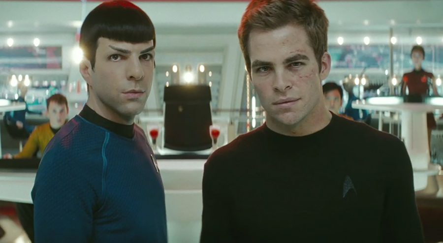 Spock (Zachary Quinto) and James T. Kirk (Chris Pine) eventually learn to work together to try to save their crew and planet earth.