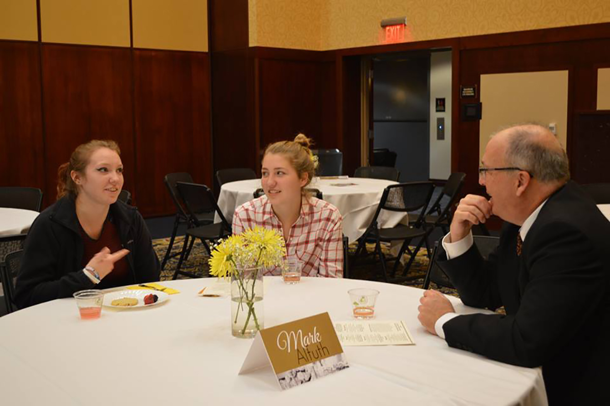 Students participated in conversation with recognized community members about jobs, their futures and their place in the world beyond college. (Submitted)
