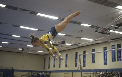 The UW-Eau Claire women's gymnastics team falls to UW-Whitewater over the weekend
