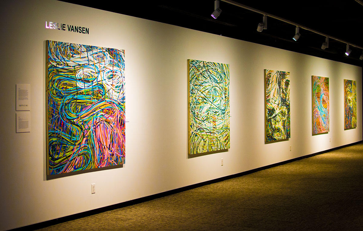 "UW-Eau Claire Foster Gallery presents ""Surfacing"" an exhibit highlighting artwork by artists across North America."