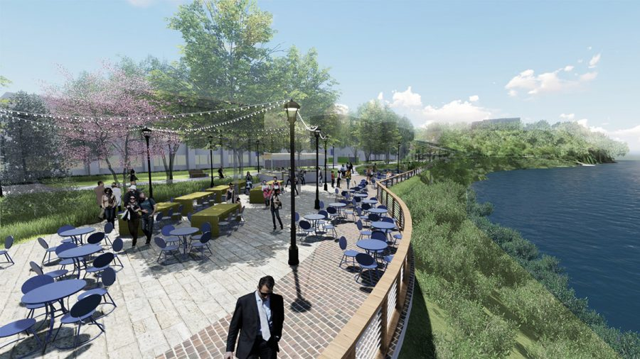 The Garfield Avenue project includes an overlook along the Chippewa River bank, adding more outdoor spaces for people to gather.